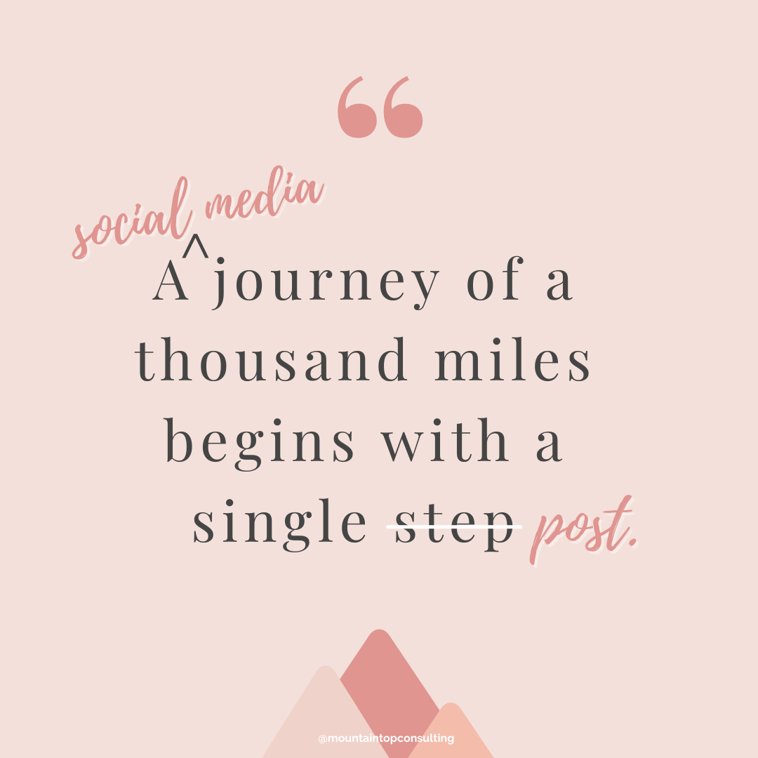 social media coaching and consulting journey