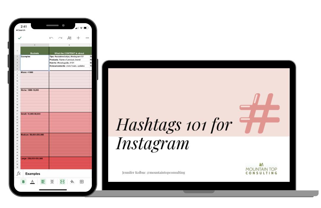 Hashtag Workbook and Webinar for Instagram Social Media