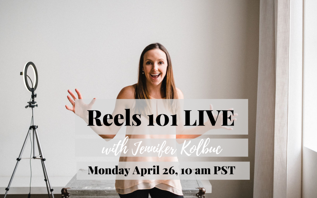 Want to crush your Reels? Join me LIVE!