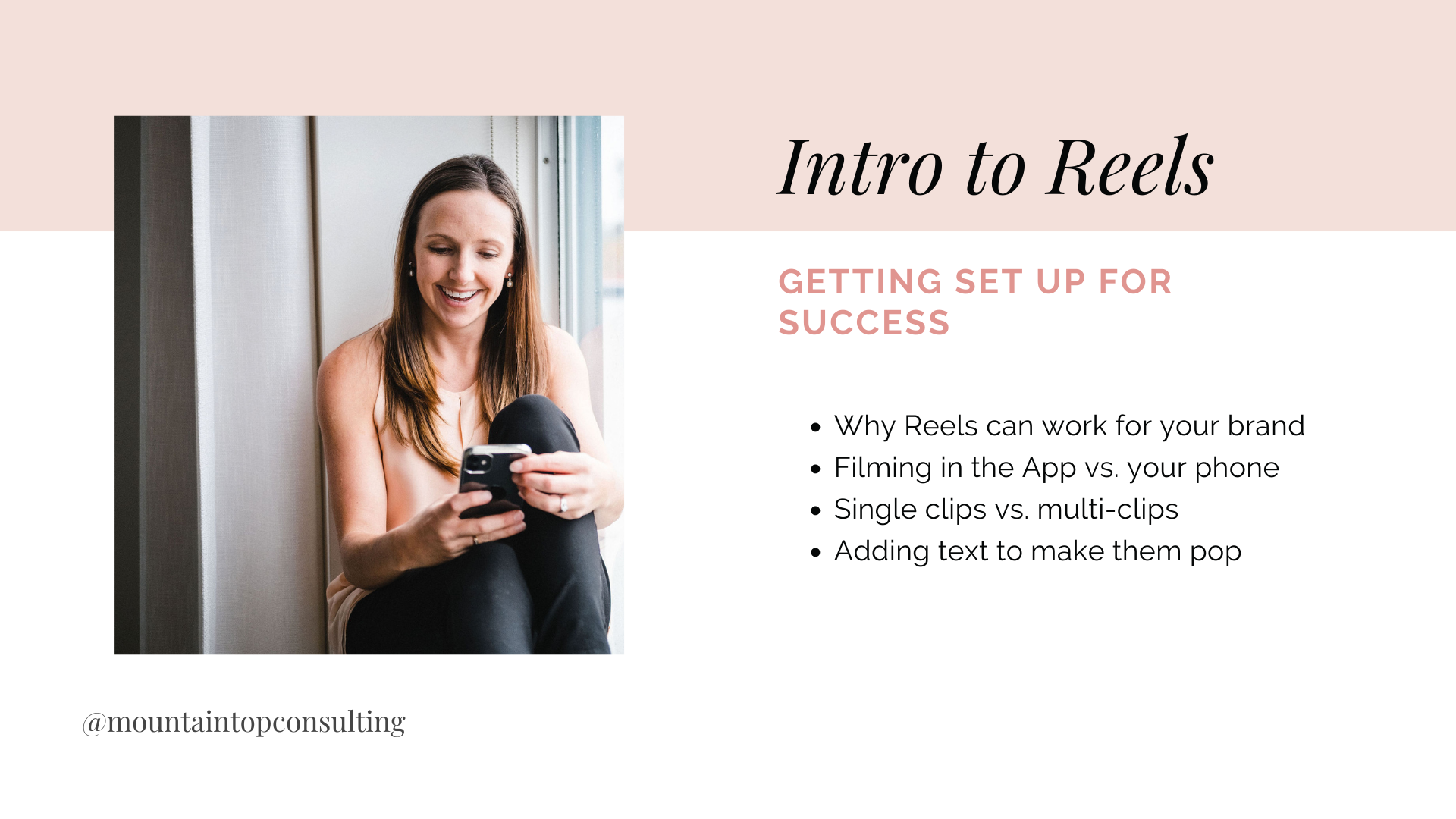 Intro to Reels 101